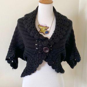 Black Ivy Jane Crochet Sweater Shrug